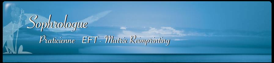Bandeau d'accueil du site Sophro94 : Praticienne EFT-Matrix Reimprinting